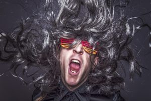 Hair metal rock star