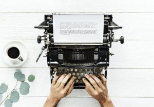 Story in typewriter