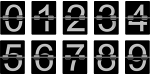 Numbers from 0 to 9