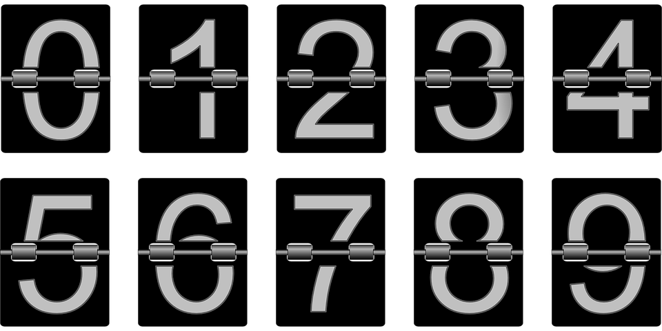 Numbers from 1 to 9