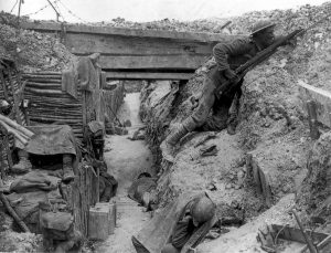 A soldier in the trenches