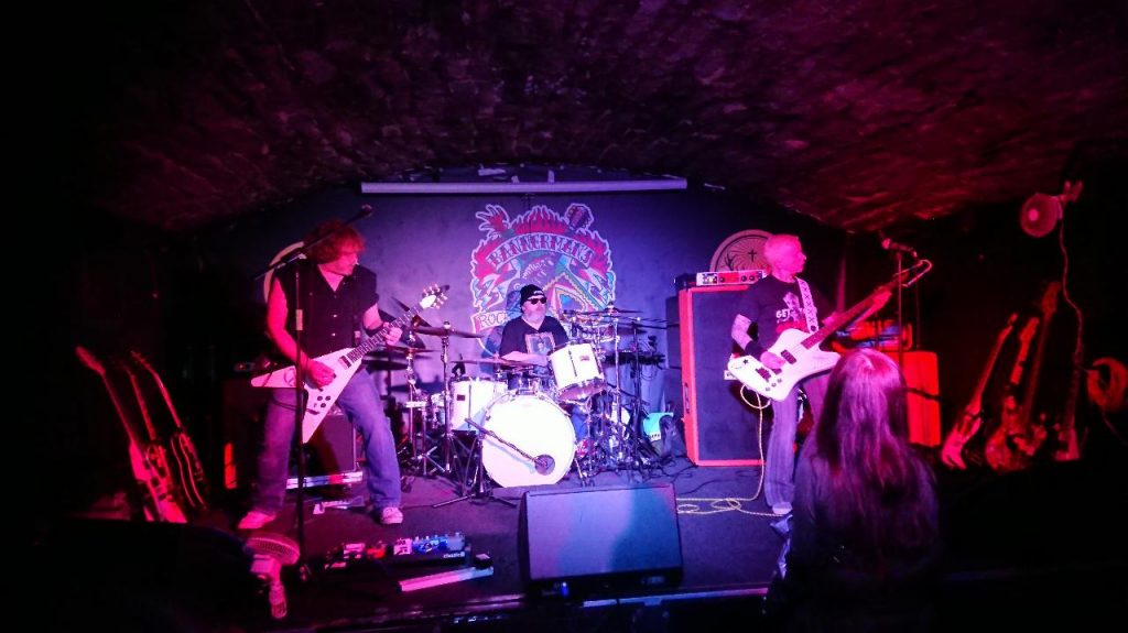 Terragazi rock band at Bannermans music venue, Edinburgh