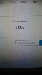 LyricSlinger site views over 5,000