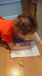 Youngest writing his lyrics