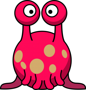 Cartoon tentacled alien
