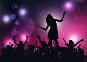 Woman dancing at disco