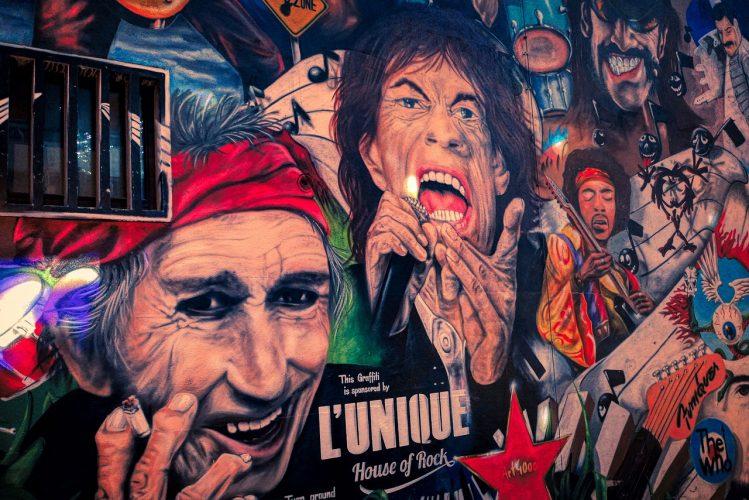 Rolling Stones wall graffitti